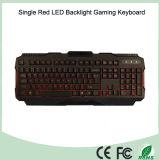 多重言語使用できる単一の赤いカラーLED Gamerキーボード(KB-1901EL-R)