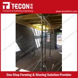 コンクリートスラブの型枠の足場システム