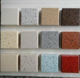 Encimera artificial dirigida negra/de la amarillento/blanca del cuarzo para la cocina/el cuarto de baño