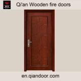 Porte à l'épreuve de la fumée de porte d'isolation de noix noire