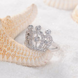 CZ 다이아몬드 제국 여왕 크라운 반지 (CRI01003)