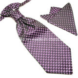 100% Polyester Soie Haute Qualité Hankerchief et Ascot Unique Ties for Men
