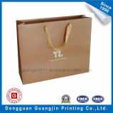 Customized papier Kraft Sac de shopping avec Logo Argent