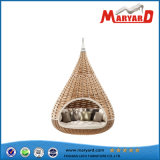 등나무 또는 Wicker Hanging Sunbed Daybed Big Nestrest Lounger