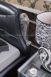 Кровать королевской конструкции A03 роскошная кожаный