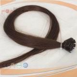 人間のFaltの先端の釘によって染められるRemyの毛の暖かいブラウンの融合の毛の拡張