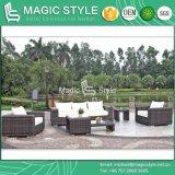 Sofà di vimini di combinazione del rattan del sofà del giardino del sofà del sofà esterno stabilito moderno del patio (stile magico)