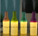 2016 Nuevo humidificador de la botella LED de la niebla ultrasónica del aire fresco mini