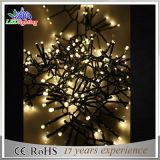 黒いPVCワイヤー屋外LEDクリスマスの装飾の豆電球