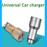 Aluminio 2 puertos USB cargador de coche cargador de coche 2.4A 1.0A Dual USB para iPhone 5 6 6 Plus para el iPad 2 3 4 5 para Samsung Galaxy S4 S5