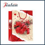 Form-Valentinstag-rotes Rosen-Handeinkaufen-Geschenk-Papierbeutel