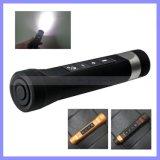 3 dans 1 haut-parleur portatif extérieur d'équitation de lampe-torche de Bluetooth DEL d'orateurs stéréo de vélo de sport bas avec la torche