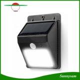 太陽電池パネル力4 LED PIRの動きセンサーライト再充電可能な屋外の防水庭の壁の景色のヤードランプ