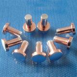 Rivet électrique de contacts d'alliage d'argent avec la conductivité électrique élevée