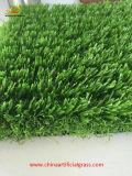 Grama sintética do futebol sem areia e borracha do Infilling
