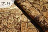 Paño elegante del telar jacquar del Chenille de 2016 hojas de Brown