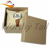 Rectángulos de regalo cuadrados de encargo de la pulsera de reloj de la joyería de la esponja del papel de Brown