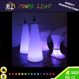 Plastique RGB Colorful Bar Furniture LED Peak Poseur Table