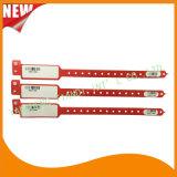 Faixas médicas personalizadas logotipo do bracelete do Wristband da identificação do hospital do código de barras (8027-2-12)