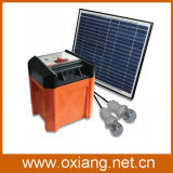 sistema 12V20ah solar para o uso Home com geração de USB e de C.C. de 2 luzes do diodo emissor de luz