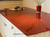 glace 10mm Tempered de 6mm 8mm Worktop avec la diverse couleur