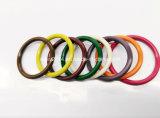 Selos de borracha NBR FKM Fvmq HNBR Aflas Ffkm Junta de anel de aço inoxidável