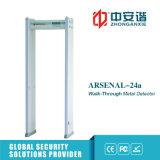 Detector de metales de la arcada de la seguridad gubernamental de las zonas de la luz 18 de la alarma del LED