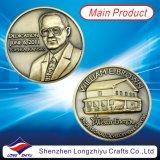2013 distintivi commemorativi con il vostro proprio disegno di marchio, 3D della moneta delle più nuove dell'oro dell'argento del bronzo medaglie antiche del metallo hanno impresso la moneta con l'imballaggio del contenitore di velluto per i ricordi