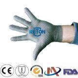 5 Finger guantes de malla anillo hecho de 100% de acero inoxidable del correo en cadena Anillo Mesh