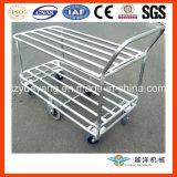 2 série Galvanized Tublar Hand Trolley para Storage