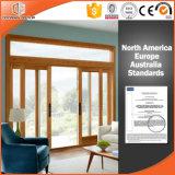 Puerta de cristal BI-Plegable para el patio, puerta de aluminio con vida útil durable, alta puerta deslizante elogiada de la elevación de madera sólida
