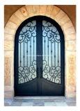 錬鉄およびガラスが付いている外部の機密保護のドア