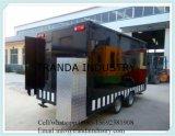 Camion mobile 2017 dell'alimento del rimorchio dell'alimento del hot dog di approvvigionamento del rifornimento della Cina con le rotelle
