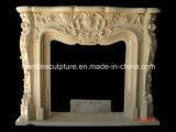 Камин украшения дома самого низкого цены бежевый мраморный (SY-MF118)