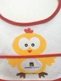 Le logo mignon de dessin animé de Terry de coton fait sur commande de produit d'OEM d'usine a estampé les bavoirs promotionnels d'usure de bébé