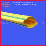 Желтый/зеленый обнажанный трубопровод Shrink жары