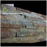 Pietra della coltura dell'impiallacciatura della pietra della parete impilata Ledgestone di Rustyquartzite del ferro