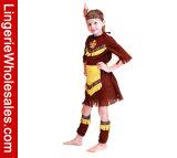 Princess Costume платья партии Cosplay Halloween девушок индийский