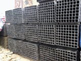 tubulação de aço retangular preta de 50mmx30mm