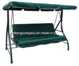 Chaise pivotante de jardin 3 places Deluxe avec 2 fonctions (lit et chaise)