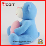 Pink Heart Blue Stuffed Monkey Animal Toy para presente para namorados
