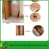 Nuevo armario de madera del armario del guardarropa del dormitorio de la melamina (precio de fábrica)