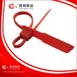 Joints en plastique de longueur fixe et joint lourd et réglable en plastique de courroie de longueur. Verrouillage de la garniture intérieure d'acier inoxydable