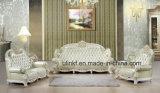 Sofà reale classico di cuoio di legno moderno del salone (UL-NSC086)