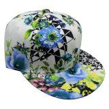 Gorra de béisbol con la tela floral con el Snapback Sb15112