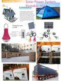 Linterna solar de los kits caseros solares de la iluminación con el regulador alejado