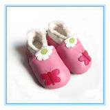 Vente en gros à bas prix Printed Baby Mode Chaussures Baby Leather Shoes