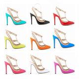 Sandálias novas da sapata de vestido das senhoras do salto elevado da forma da coleção (S18)