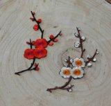 Fleur de broderie d'accessoires de vêtement de fleur de Plun