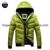 在庫または点の衣服、人のための白いアヒルのDonw Hoodyの冬のジャケット。 卸し売りジャケット